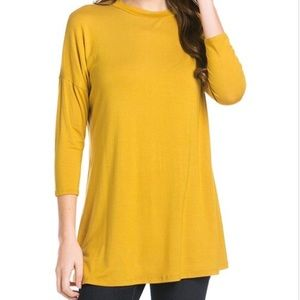 Mustard Half Sleeve Top